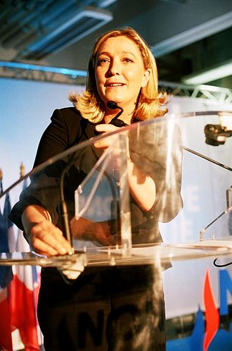 Right-wing populism - Marine Le Pen, leader of the National Front and 2017 presidential candidate