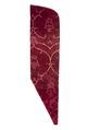 MCC-8482 Rood fluweel met uitsparingen van ranken in spitsovaal waarin granaatappelknop (1).tif