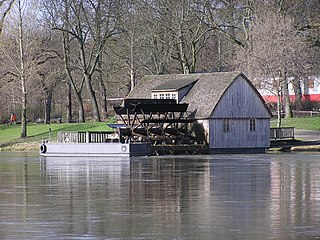 Watermill on a floating platform