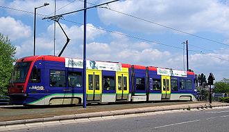 West Midlands Metro rolling stock - Image: MM tram at Wolverhampton