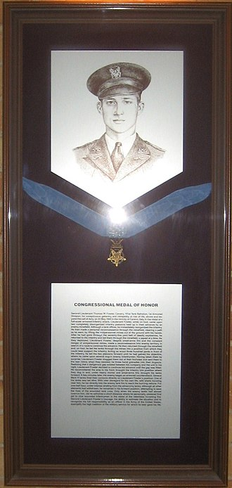 Thomas W. Fowler - Thomas Weldon Fowler and a specimen Medal of Honor on display at Texas A&M University
