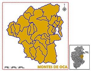 Montes de Oca (comarca) - Image: MONTES DE OCA