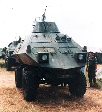 Zimbabwe National Army - Mine Protected Combat Vehicle of the ZNA in 1980.