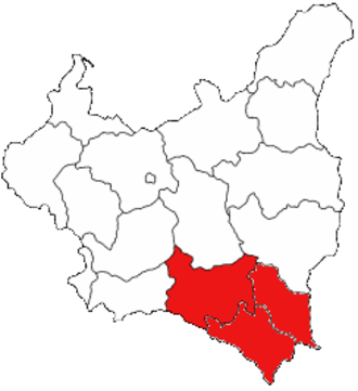 Pacification of Ukrainians in Eastern Galicia - Eastern Lesser Poland / Eastern Galicia (Lwów, Stanisławów and Tarnopol Voivodeships), Second Polish Republic - territories inhabited by the Ukrainian minority in Poland and affected by the pacification