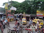 Cycle rickshaws and vans are ubiquitous in rural and semi-urban localities