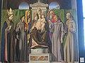 Madonna in trono con il Bambino tra i ss. Anna, Gioacchino, Ludovico da Tolosa, Antonio da Padova, Francesco e Bernardino da Siena di Alvise Vivarini (1).JPG