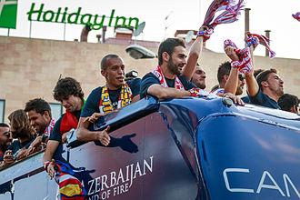 Miranda (footballer) - Miranda on Atlético Madrid's victory parade after winning the league in 2014