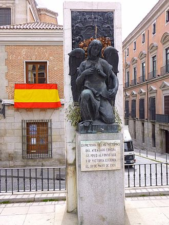 Monument to victims of the attack against Alfonso XIII - Current monument