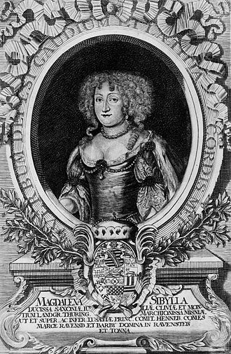 Magdalena Sibylle of Saxe-Weissenfels - Image: Magdalena Sibylle of Saxe Weissenfels