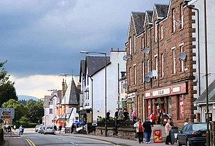 The main street in Aberfoyle