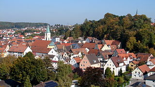Mainburg Place in Bavaria, Germany