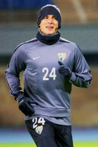 Roque Santa Cruz - Santa Cruz training with Malaga in 2012