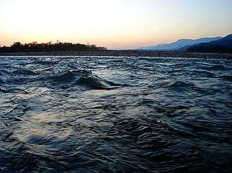 Manas River - Manas River on the Assam/Bhutan border.