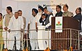 Manmohan Singh dedicating the Guru Gobind Singh Refinery to the Nation, in Bathinda, Punjab. The Governor of Punjab, Shri Shivraj Patil, the Union Minister for Petroleum and Natural Gas, Shri Jaipal Reddy.jpg