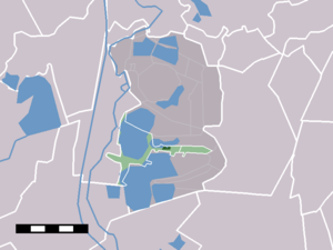 Oud-Loosdrecht - Image: Map NL Wijdemeren Oud Loosdrecht