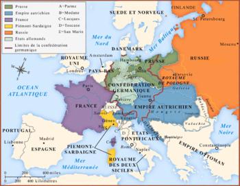carte europe 1815