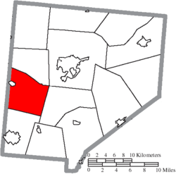 Location of Vernon Township in Clinton County
