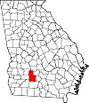 Map of Georgia highlighting Worth County.svg