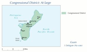 Guam's at-large congressional district - Image: Map of Guam Congressional district 109