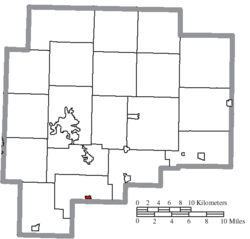 Px Map Of Guernsey County Ohio Highlighting Pleasant City Village
