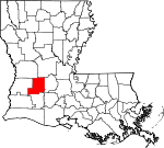 State map highlighting Allen Parish