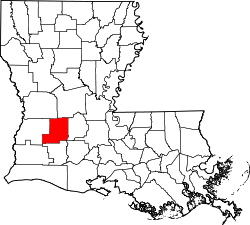 Map of Louisiana highlighting Allen Parish.svg