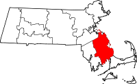 Map of Massachusetts highlighting Plymouth County.svg