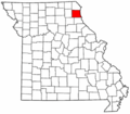 Map of Missouri highlighting Lewis County.png