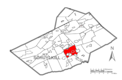 Map of Schuylkill County, Pennsylvania Highlighting North Manheim Township.PNG