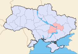 Map of Ukraine political Oblast Dnipropetrowsk