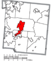 Map of Warren County Ohio Highlighting Lebanon City.png