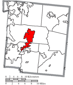 Location of Lebanon in Warren County