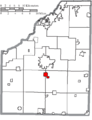 Map of Wood County Ohio Highlighting Portage Village.png