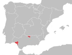 Distribución de L. pardinus en 2003[2]