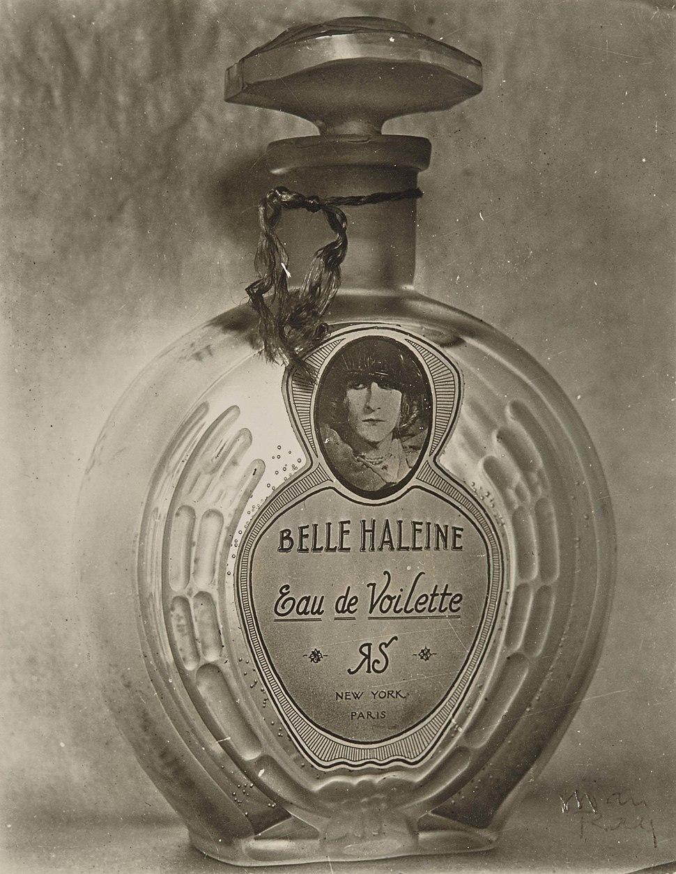 Marcel Duchamp (Rrose Selavy), Man Ray, 1920-21, Belle Haleine, Eau de Voilette
