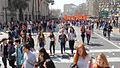 Marcha cerca de Biblioteca Nacional de Chile, sept. 2013.jpg