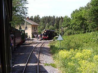 Upsala-Lenna Jernväg - Marielund railway station in 2006.
