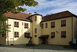 The attractive town hall of the community Markt Schöllkrippen