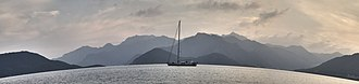 Marmaris - Image: Marmaris coastline waters (panoramic view), Muğla Province, southwest Turkey, Mediterranean