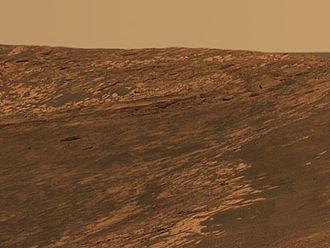 Endurance (crater) - Approximate true-color image of Karatepe.