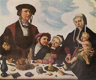 Maarten van Heemskerck - Family of Pieter Jan Foppesz. - painted before Heemskerck left for Italy in 1532.