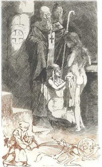 Thaïs (novel) - Illustration by Martin van Maële for a 1901 edition of the novel