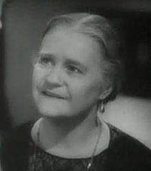 Black and white head shot of Mary Gordon from the trailer for the film The Irish in Us