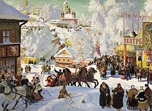 Maslenitsa - Maslenitsa, Boris Kustodiev, 1919 (Isaak Brodsky Museum, St. Petersburg)