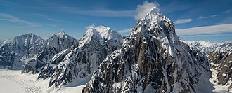 Mount Church (Alaska) - From back to front, Mount Church, Mount Dickey, Mount Grosvenor and Mount Johnson
