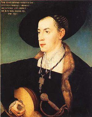 Matthäus Schwarz - Portrait of Matthäus Schwarz by Hans Maler zu Schwaz, 1526, Musée du Louvre
