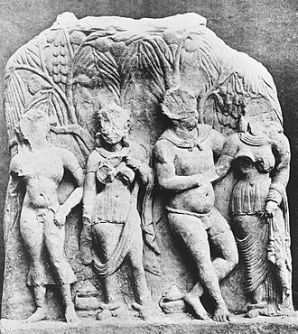 Mathura Herakles - Image: Mathura Bacchanalian scene