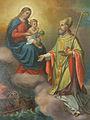 Matija Koželj - Sv. Nikolaj gleda devico Marijo z Jezusom v naročju.jpg