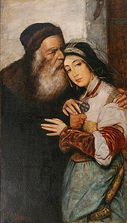 Maurycy Gottlieb - Shylock i Jessica 02