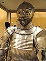 Maximilian field armor with visor for ceremony and tournament, south Germany, 1510-1520 - Higgins Armory Museum - DSC05644.JPG